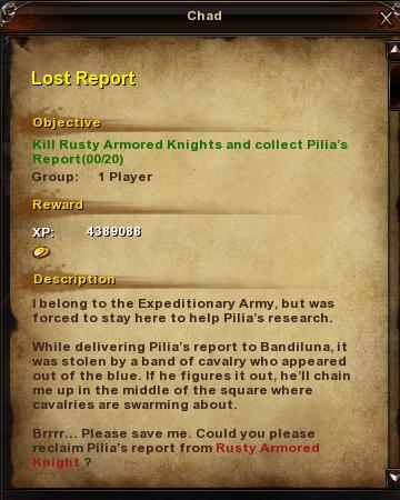 30 Lost Report