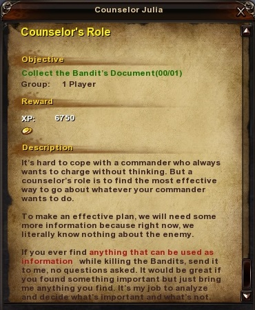 70 Counselor's Role
