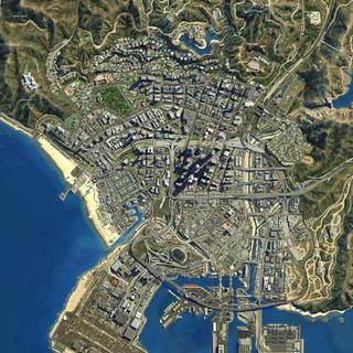 thumb|Los Santos satellite view.