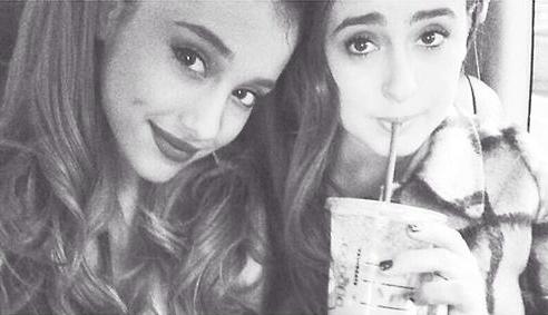 File:Ariana Grande & Alexa Luria with Starbucks.png
