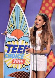 Ariana winning her first tca
