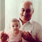 Ariana with her grandpa when she was just a baby