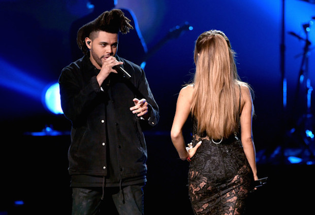 File:AMA 2014 ariana & the weeknd 1.jpg