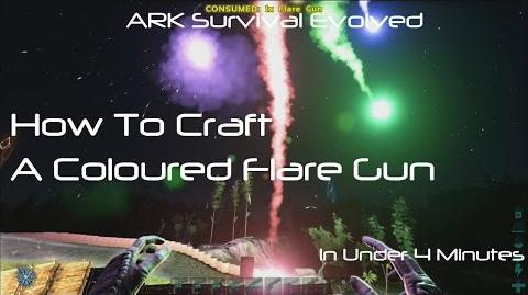 ARK Survival Evolved How To Craft A Flare Gun With Coloured Flares
