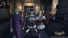 Batman Led In A Corridor