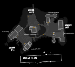Clean Arkham Asylum Map