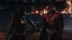 Batgirl and robin