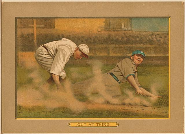 File:1911 out at third baseball card.jpg