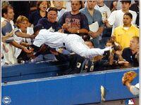 Derek Jeter Dive into Stands