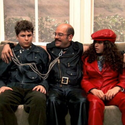 Tobias being a 'leather daddy' in