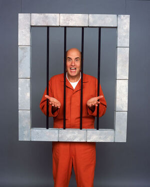 Publicity - George behind bars