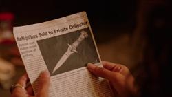 The Amon Dagger newspaper article