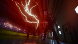 The Reverse-Flash killing two guards
