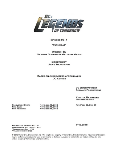 File:DC's Legends of Tomorrow script title page - Turncoat.png