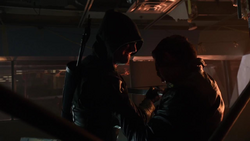 Oliver's first fight with Deadshot