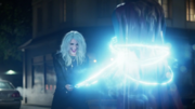 Livewire electrocuting Supergirl