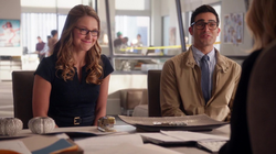 Clark and Kara has a meeting with Cat Grant