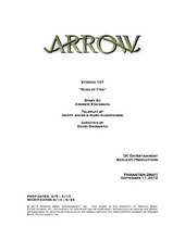 Arrow script title page - Muse of Fire