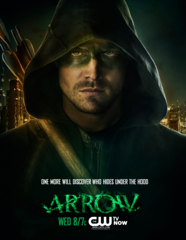 Ficheiro:Arrow promo - One more will discover who hides under the hood.png