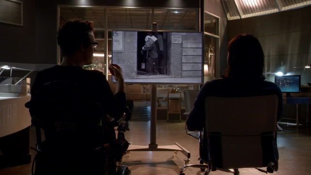 File:Eobard and Cisco watch a Buster Keaton movie.png