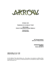 Arrow script title page - Darkness on the Edge of Town.png