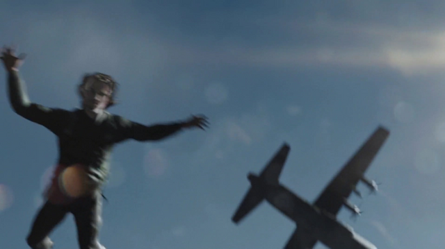 File:Oliver is forcibly parachuted back to Lian Yu.png