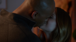 James and Kara kiss