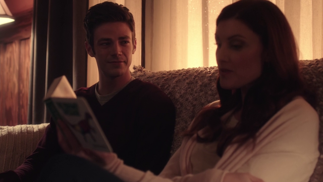 File:Barry Allen and the Speed Force read The Runaway Dinosaur.png