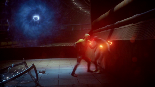 File:Reverse-Flash tries to kill the Flash.png