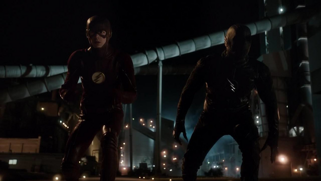File:The Flash and Zoom about to race.png