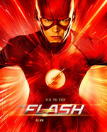 The Flash season 3 poster - Feel The Rush