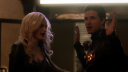 Deathstorm and Killer Frost search for Flash