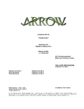 Arrow script title page - Disbanded