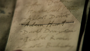 Adam Hunt's name crossed off The List