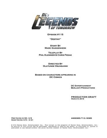 File:DC's Legends of Tomorrow script title page - Destiny.png