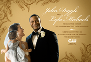 John Diggle and Lyla Michaels request the honor of your presence at their marriage