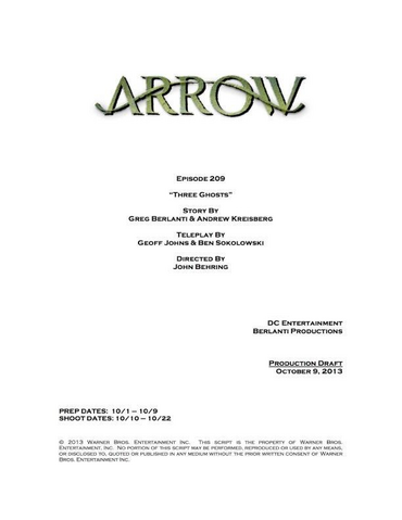 Archivo:Arrow script title page - Three Ghosts.png