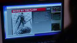 The first post after changing the blog name to Saved by The Flash