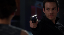 Mon-El pulls a gun on his mother