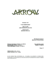 Arrow script title page - The Undertaking
