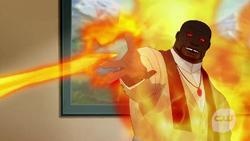 Benatu Eshu using fire powers
