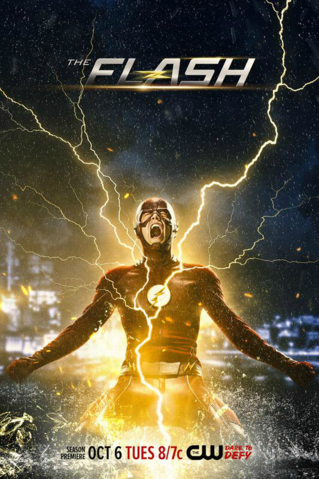 Файл:The Flash Season 2 poster - Season premiere October 6.png