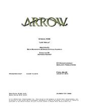 Arrow script title page - Lost Souls