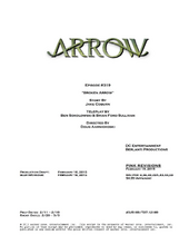 Arrow script title page - Broken Arrow