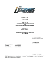 DC's Legends of Tomorrow script title page - Pilot, Part 2.png