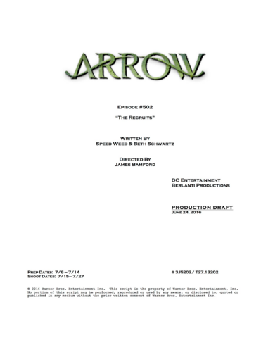 File:Arrow script title page - The Recruits.png