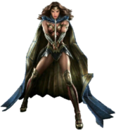 Wonder Woman with her sword concept art