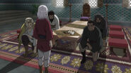 His commanders bowing to Arslan