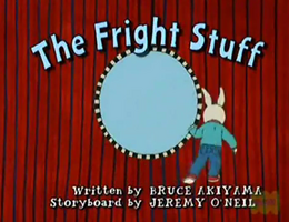 The Fright Stuff Title Card