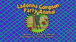 Ladonnacompsonpartyanimaltitlecard uk